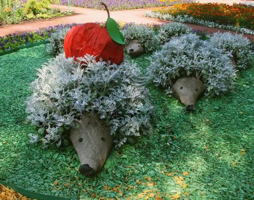 Декоративный ежик для сада своими руками 71